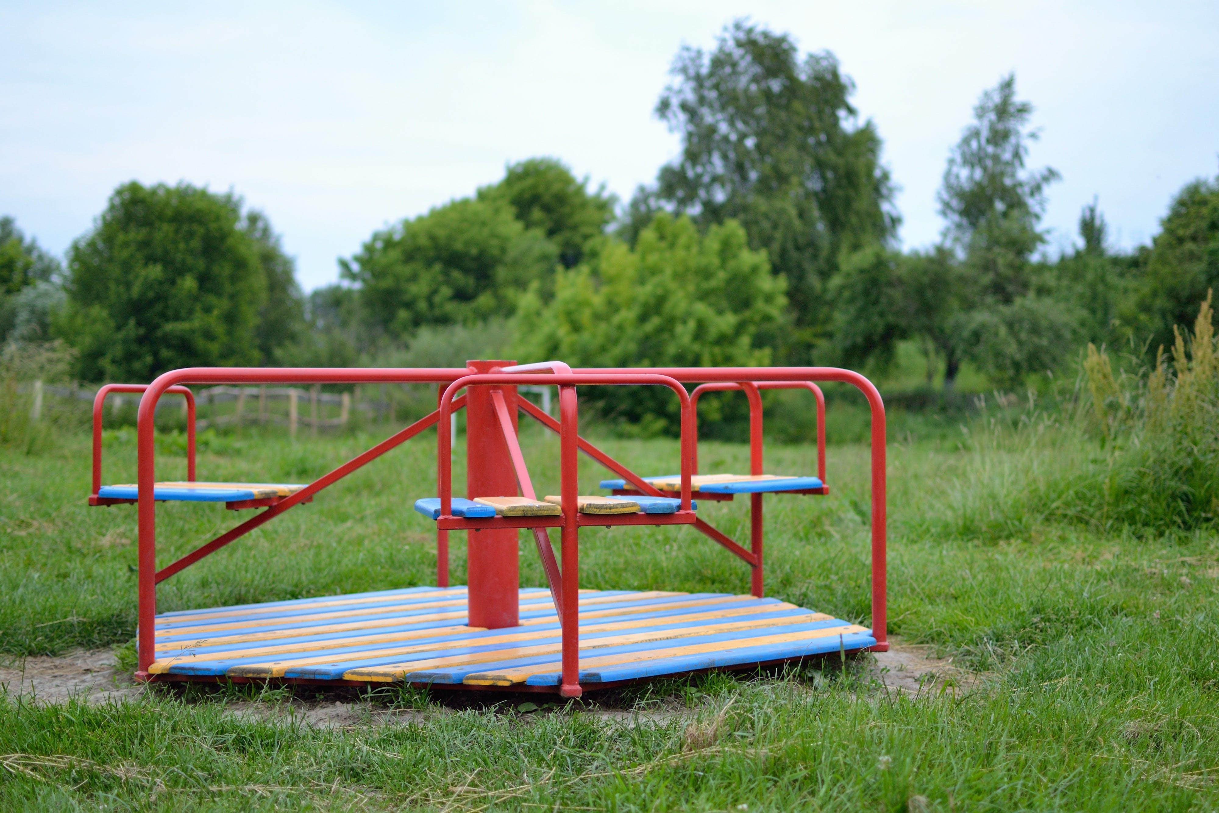 Free stock photo of carousel, childhood, garden, school