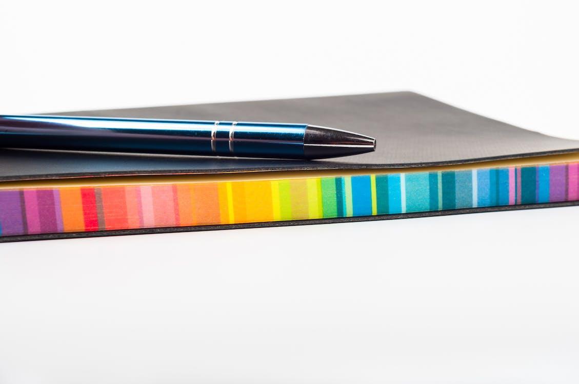blyant, blæk, dagbog
