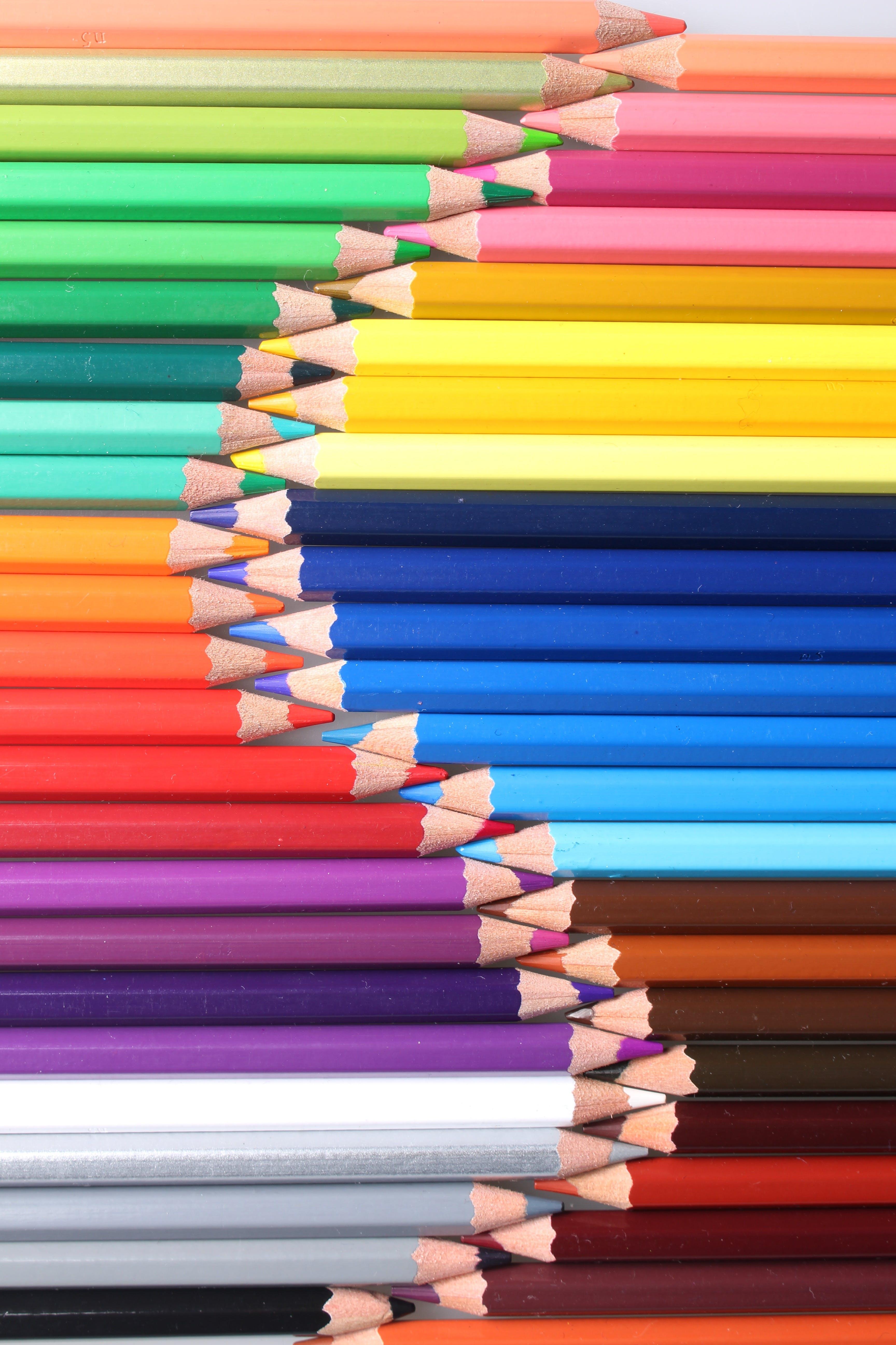 Fotobanka sbezplatnými fotkami na tému farebné ceruzky, farebné ceruzy, farebný, pestrofarebný