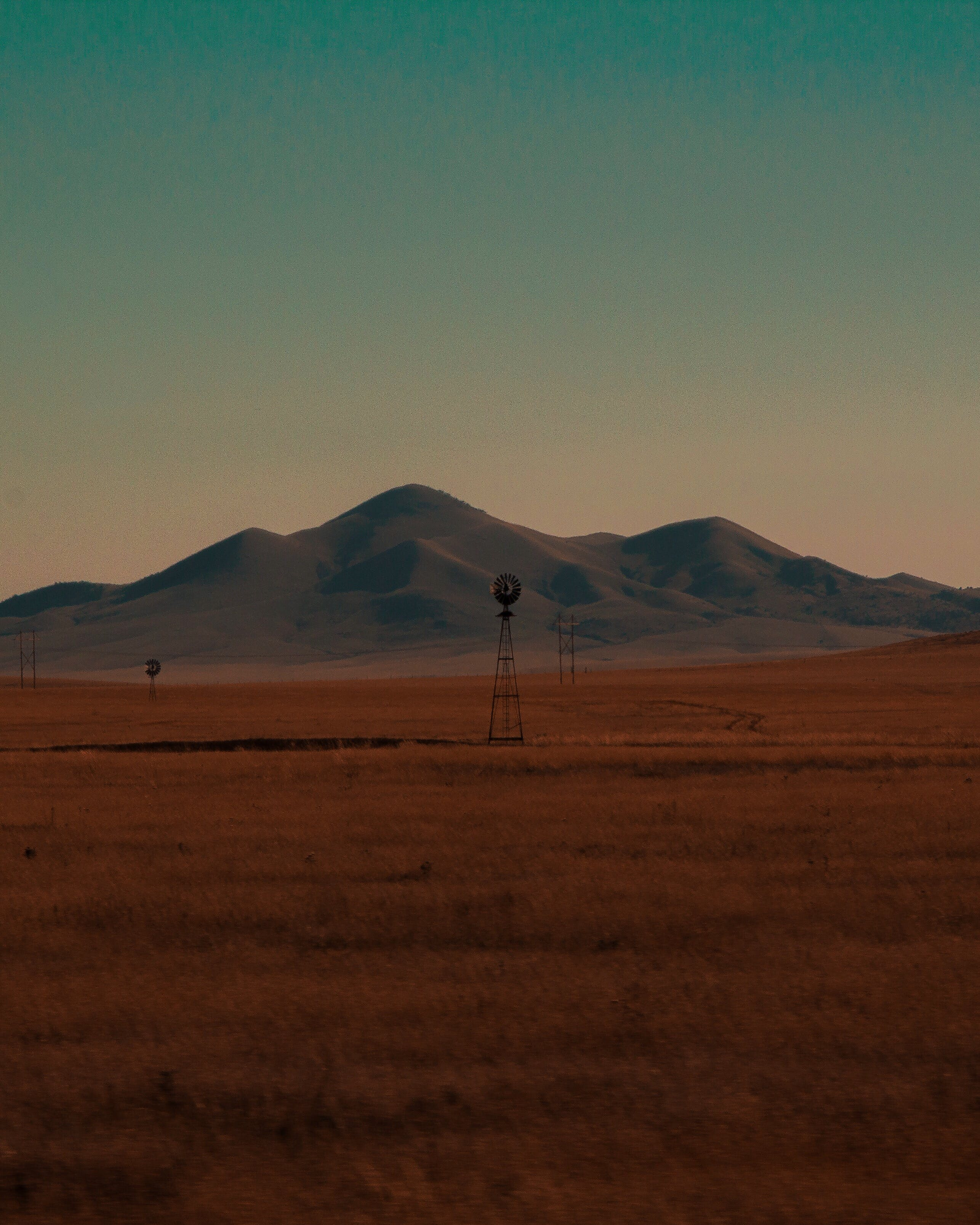 Wind Turbine on Landscape Field