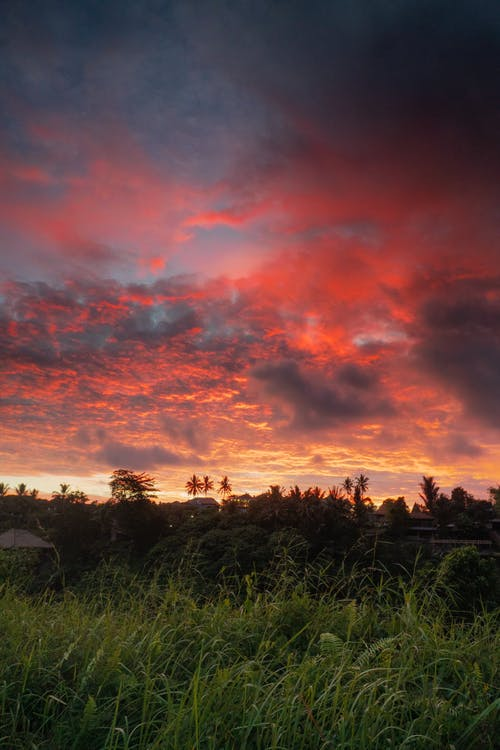 daggry, dramatisk, dramatisk himmel