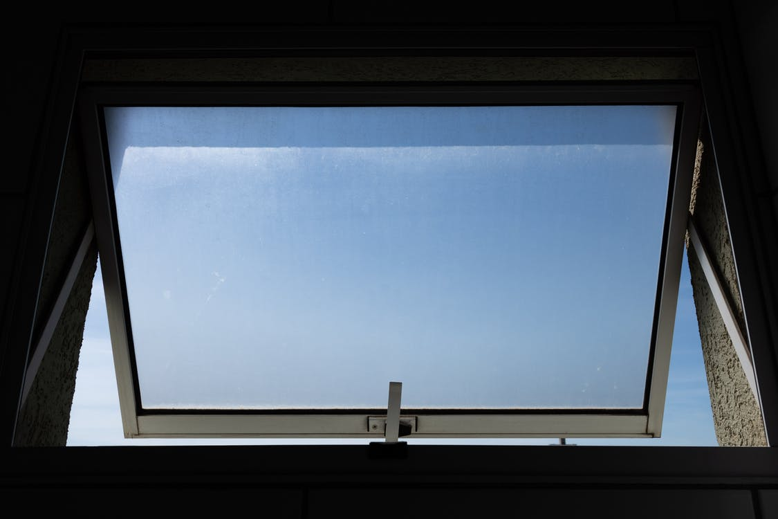 åben, blå himmel, dagslys