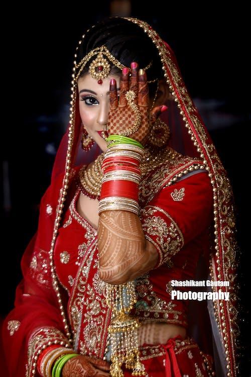 Free stock photo of bridal, lady, makeup
