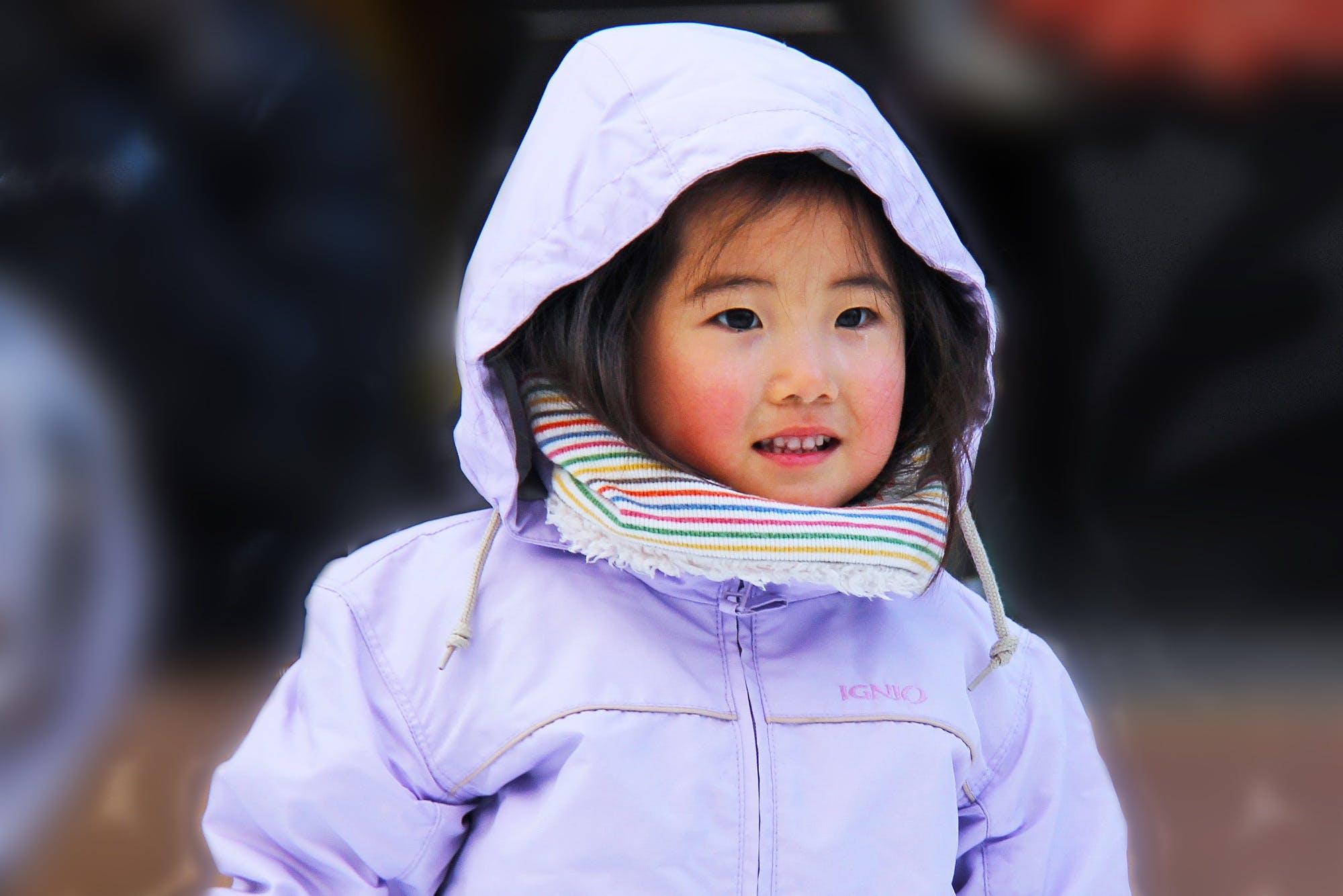 Girl Wearing Hoodie Selective Focus Photography