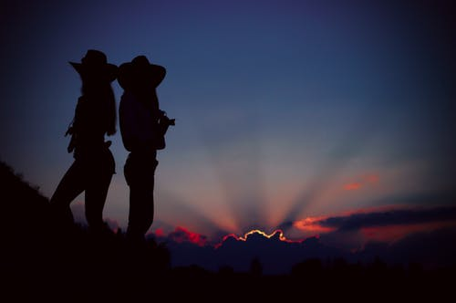 Silhouette of Two People