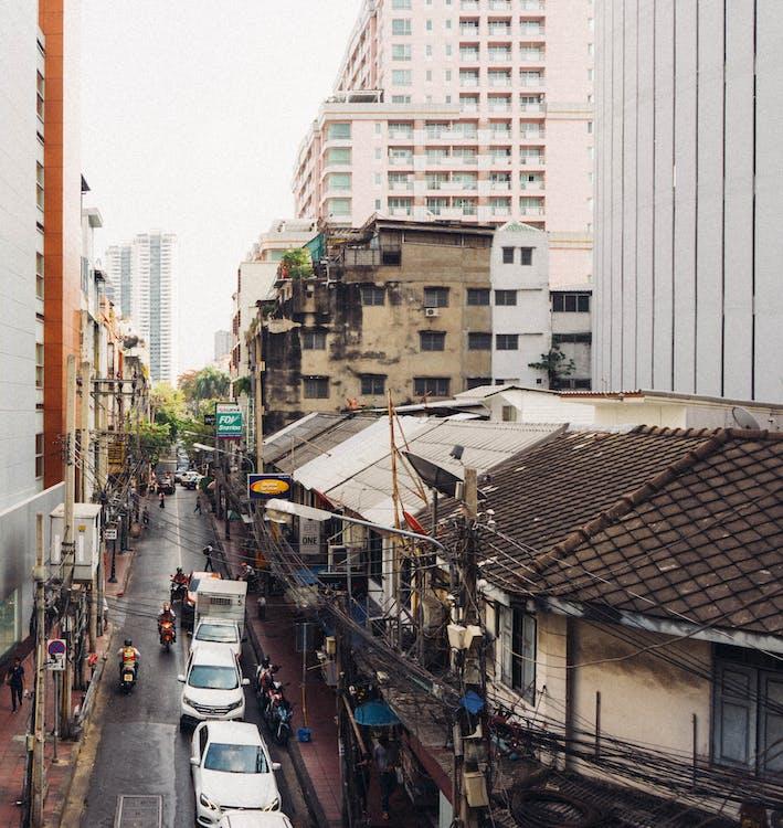 architektura, asfalt, Asie