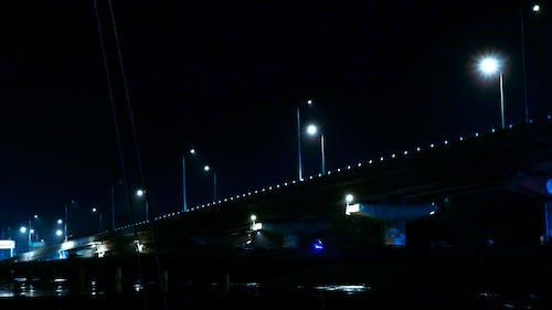 Gratis lagerfoto af blåt vand, bro, by, byliv