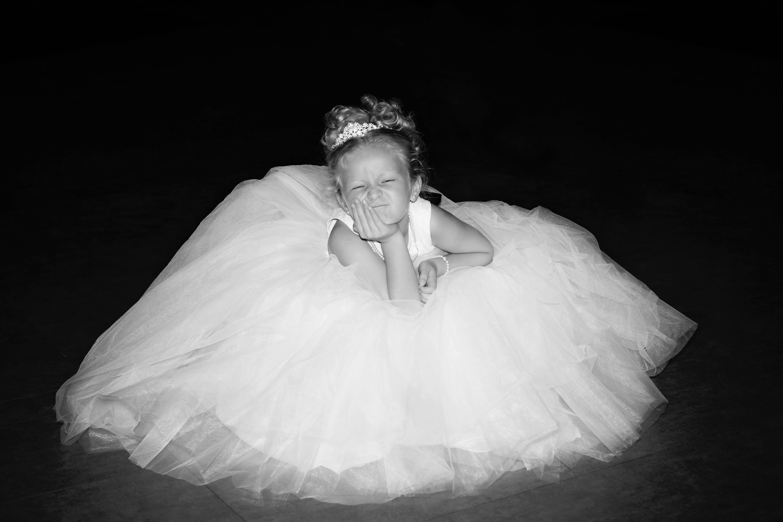Free stock photo of child, cute, dress, flower girl
