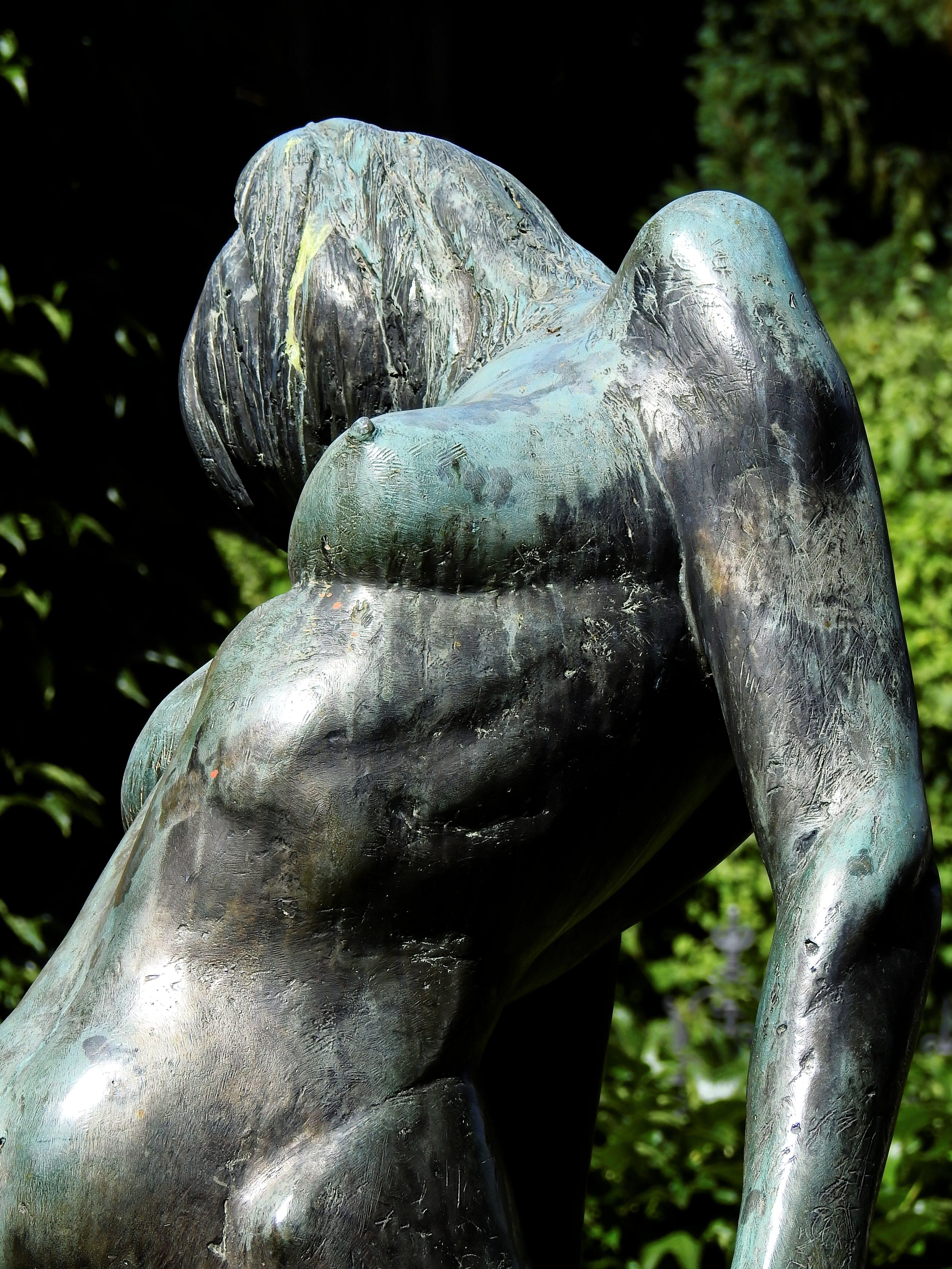 Free stock photo of woman, art, metal, statue