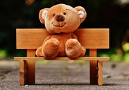 wood, bench, cute