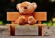 wood, bench, cute