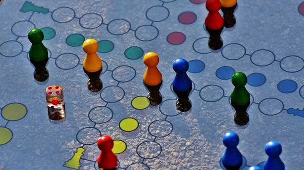 Blue and Yellow Board Game
