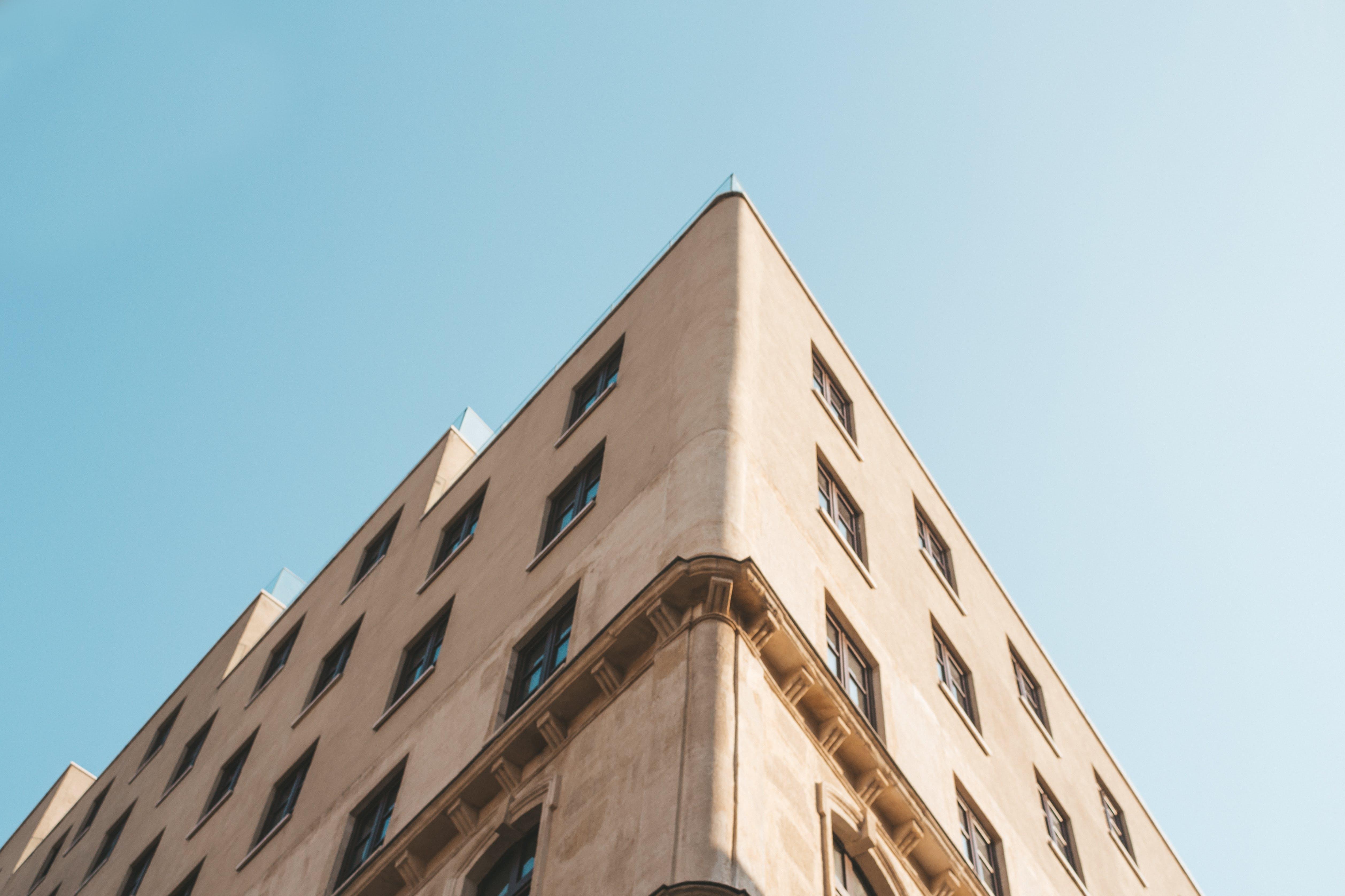 アパート, ガラス窓, コンテンポラリー, コーナーの無料の写真素材