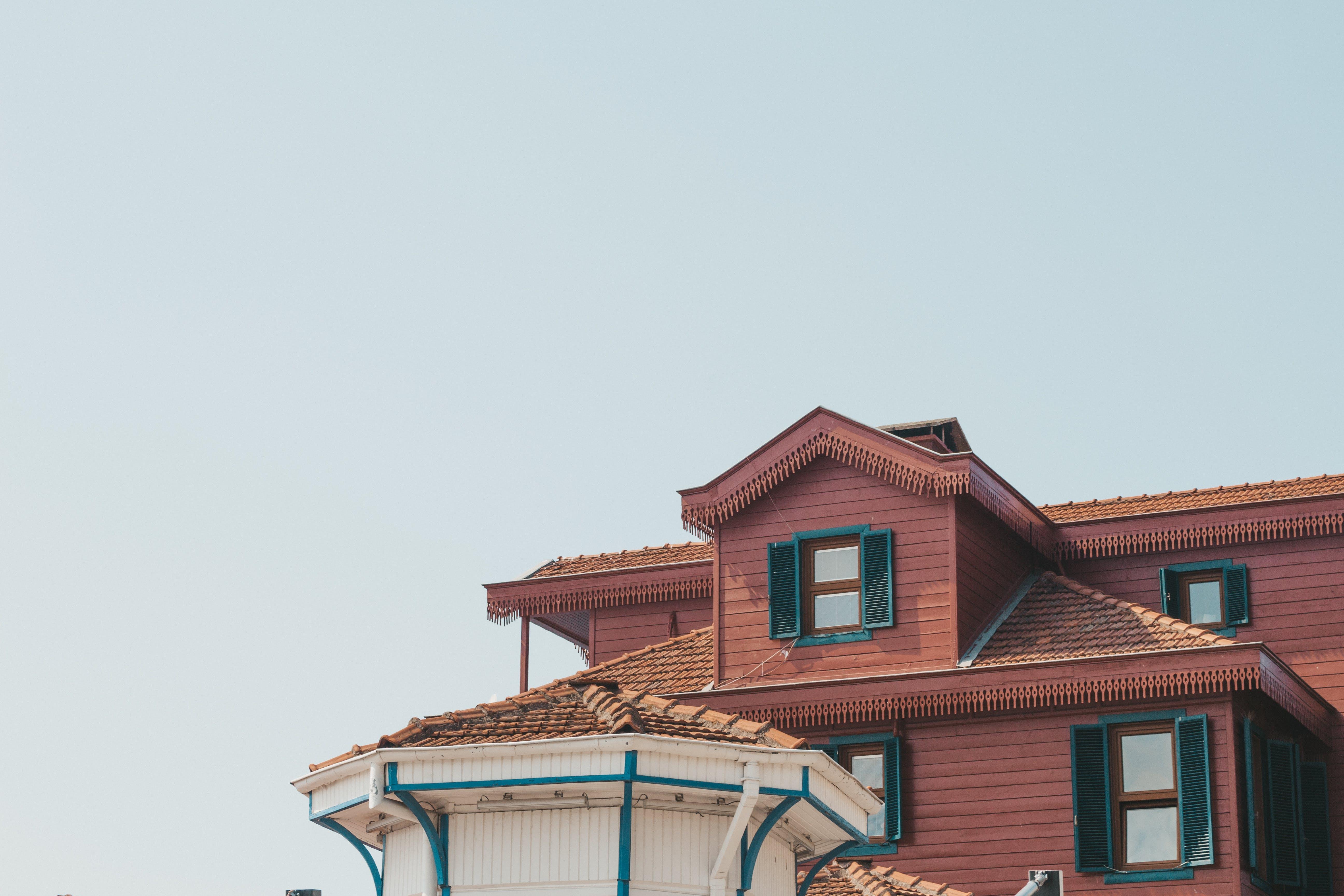Foto stok gratis Arsitektur, atap, cokelat, desain arsitektur