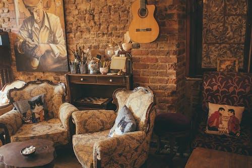 原本, 安乐椅, 室內, 室內設計 的 免费素材图片