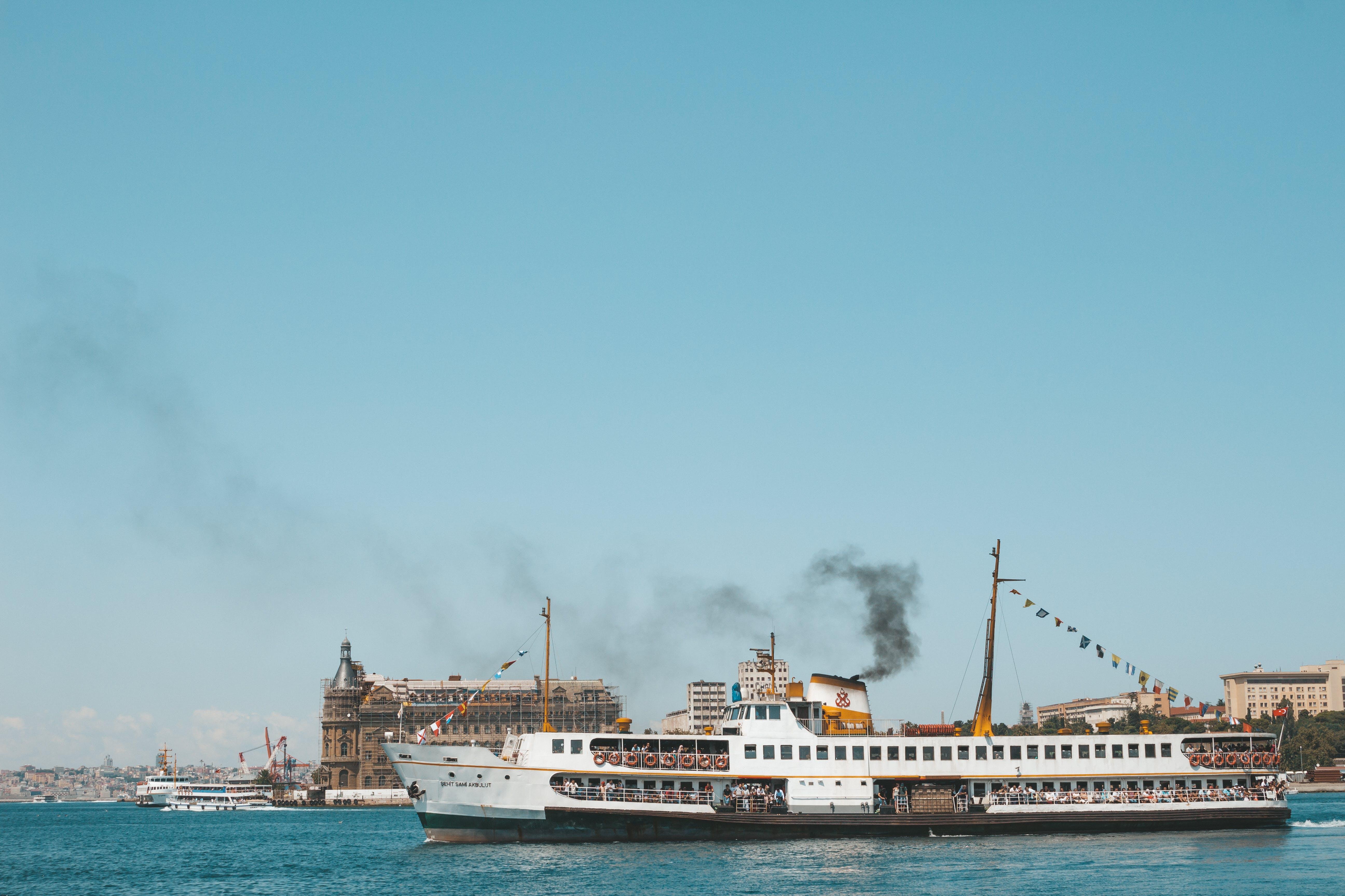 White Ship on Calm Sea