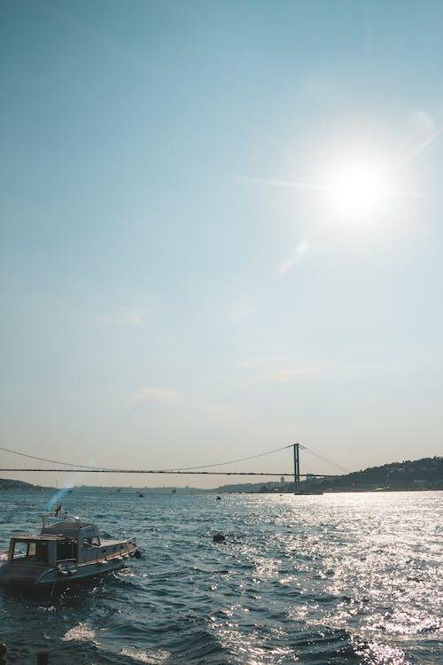 açık, dalgalar, deniz, deniz aracı içeren Ücretsiz stok fotoğraf
