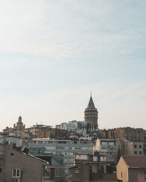 Cityscape of old Istanbul with Galata Tower