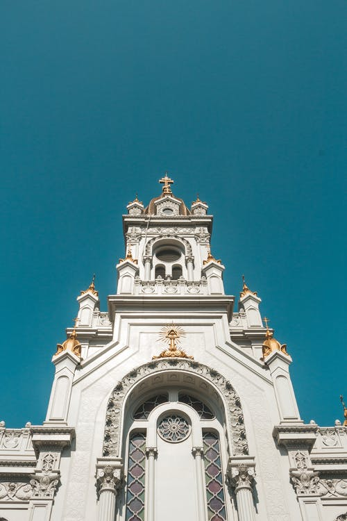 Low Angle Photography of White Church
