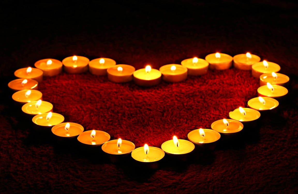 Heart Shaped Candles Valentine's Day