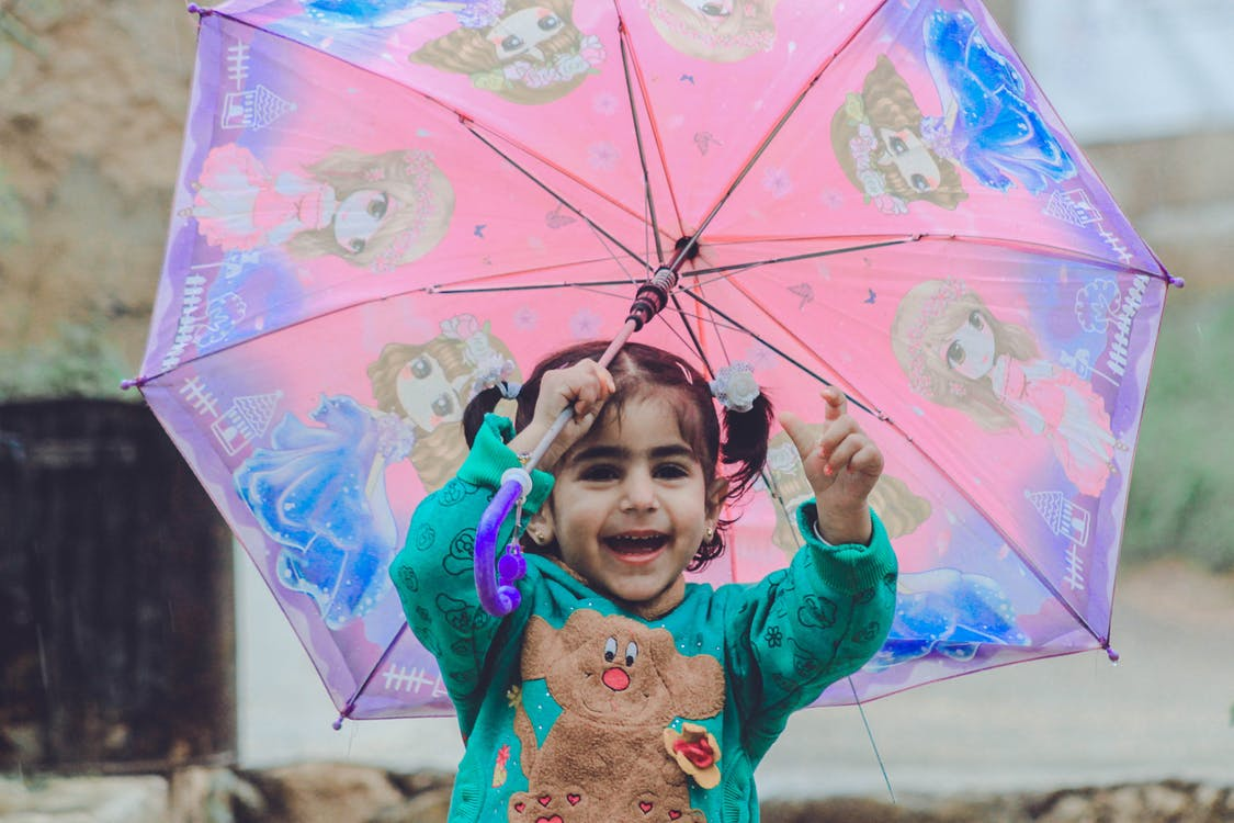 batole, denní světlo, deštník
