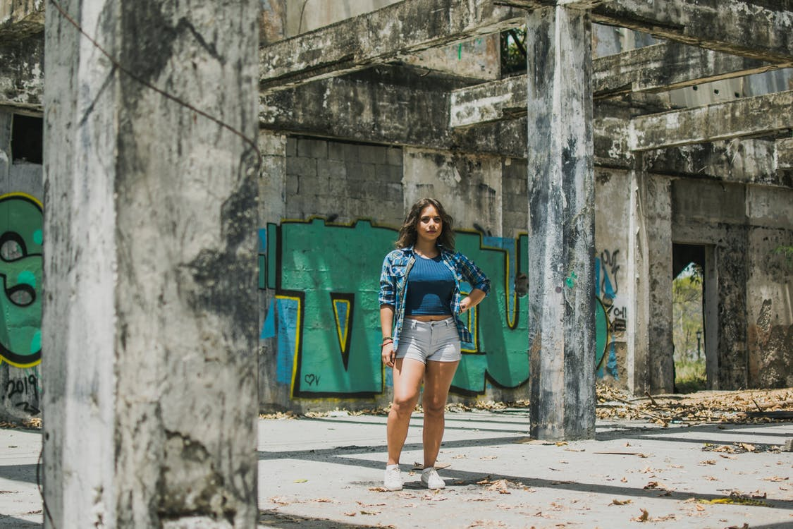 elhagyatott, építészet, épület