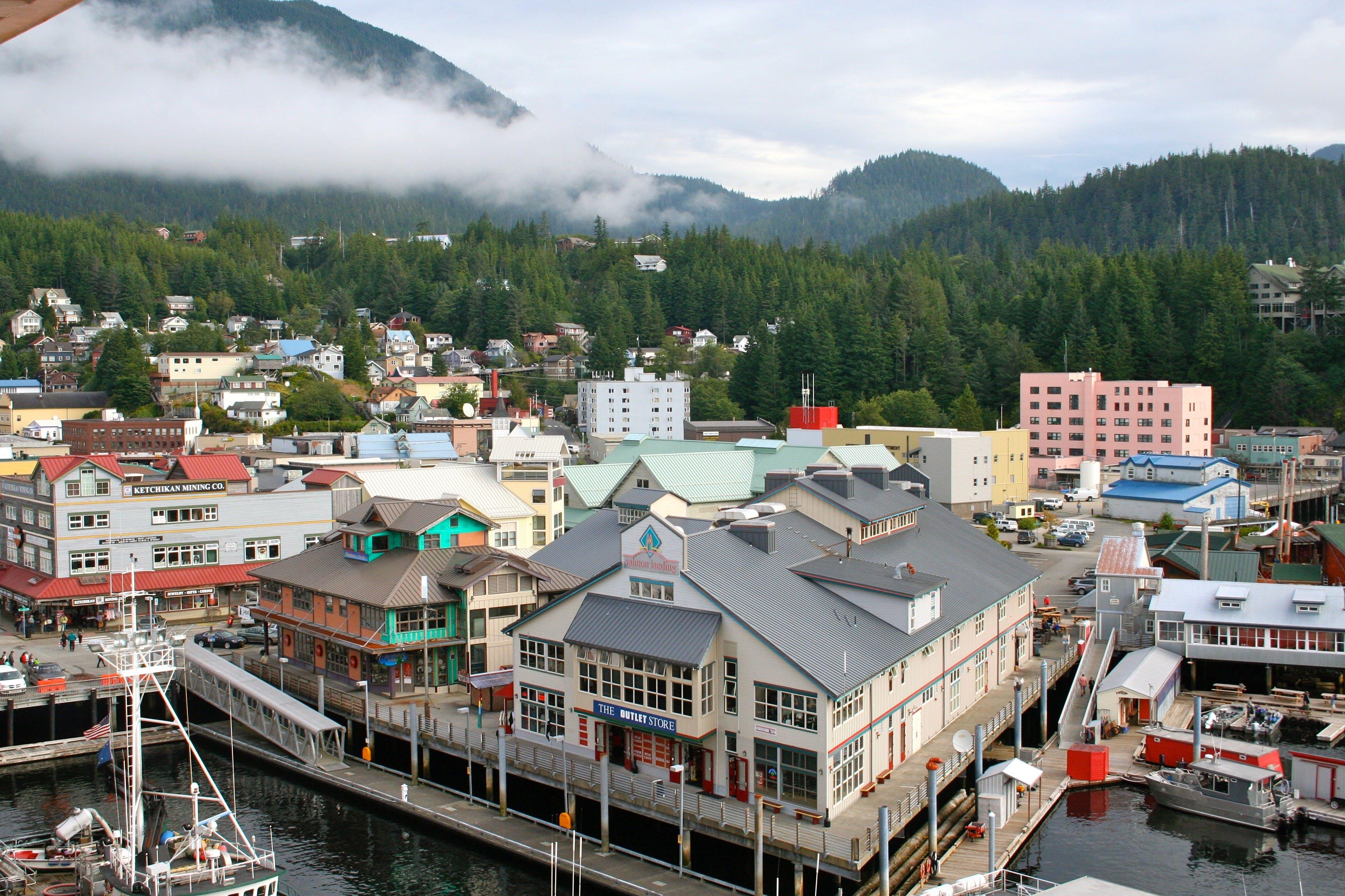 Gratis lagerfoto af Alaska, butikker, havneby, ketchikan