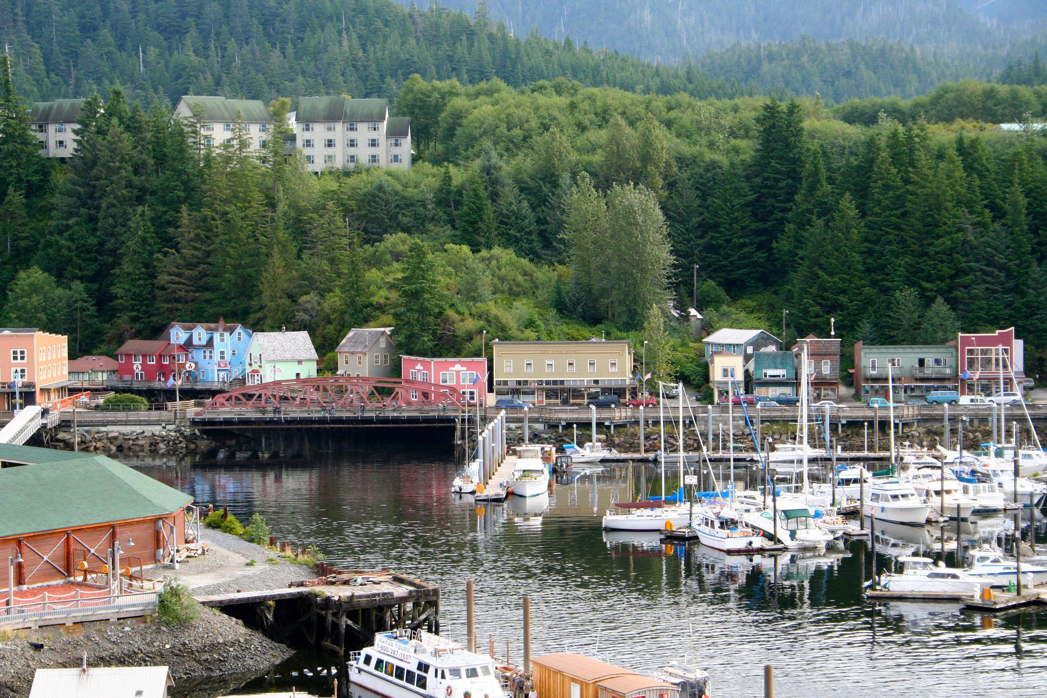 Gratis lagerfoto af Alaska, by, havn, ketchikan