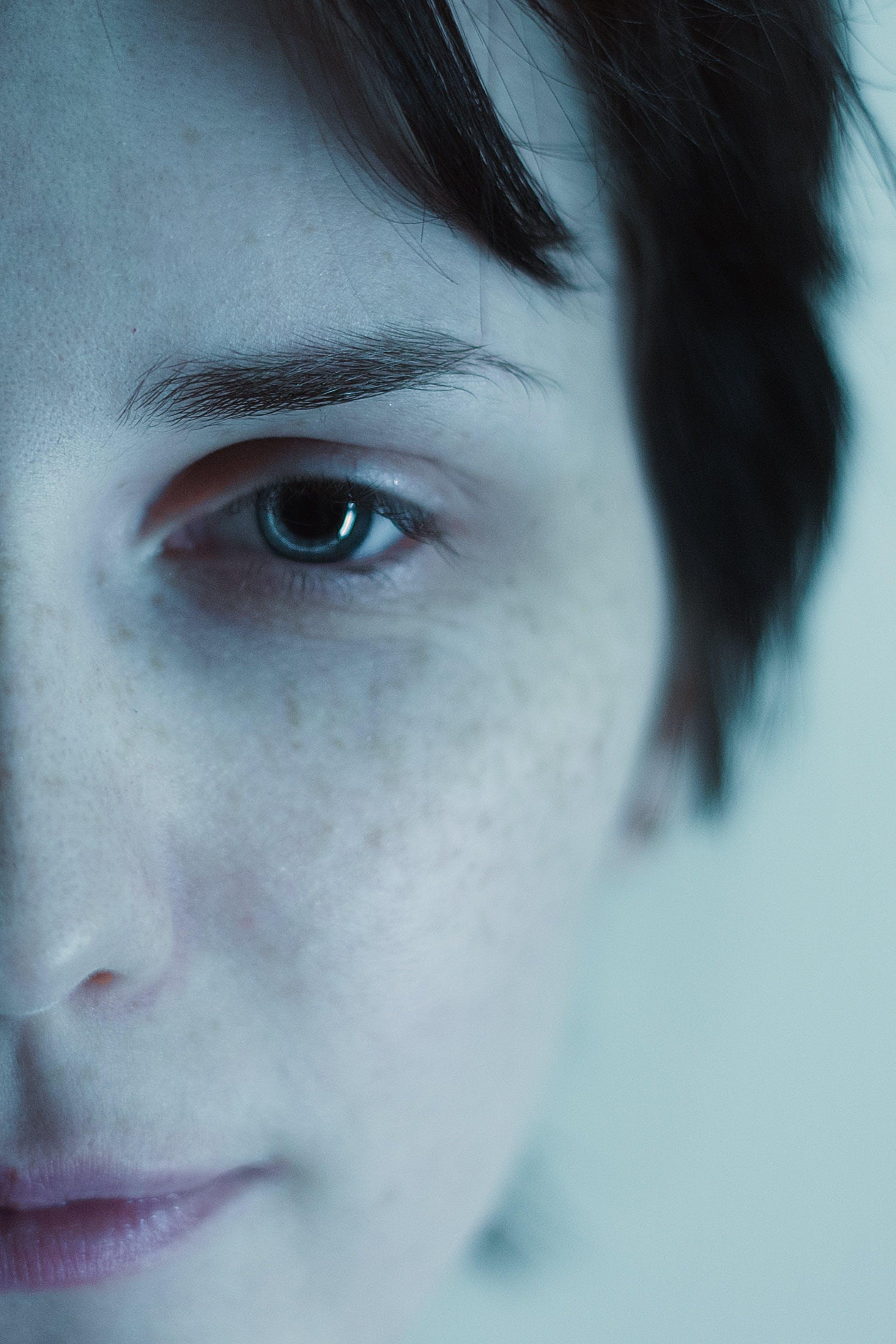 Closeup Photography of Woman's Face