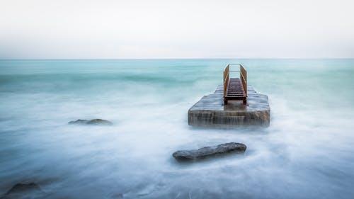 deniz, deniz manzarası, gün batımı, gün doğumu içeren Ücretsiz stok fotoğraf