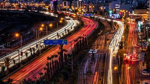 Fotos de stock gratuitas de céntrico, ciudad nocturna, escena nocturna, estelas de luz