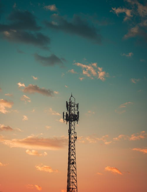 Silhouette Photography of Steel Tower
