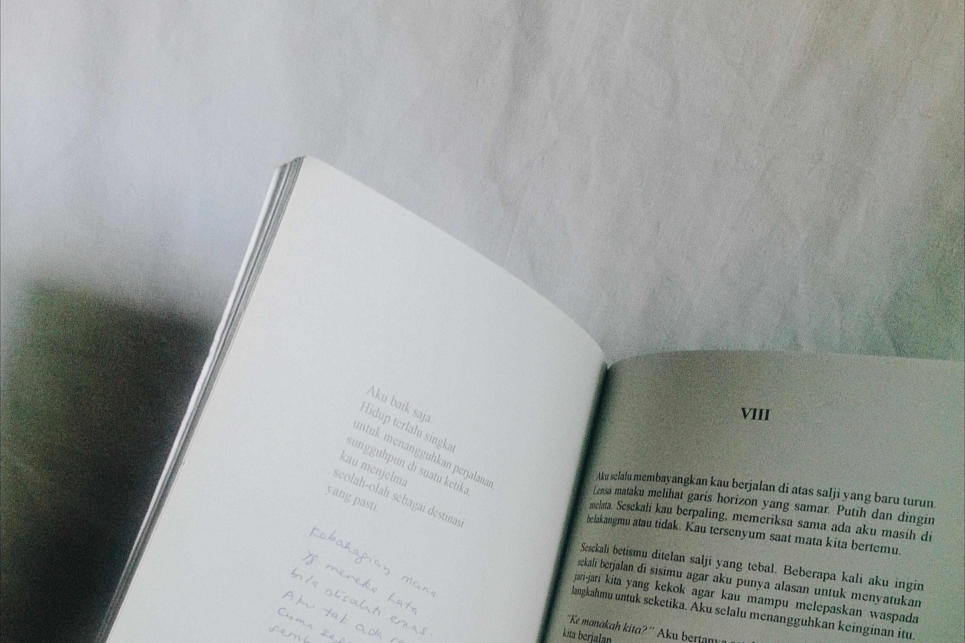Monochrome Photo of Book