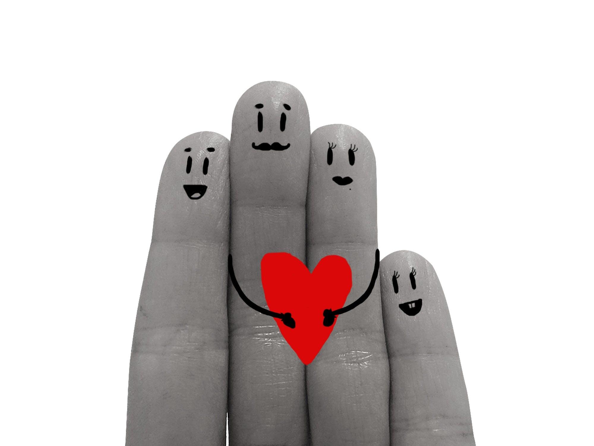 Kostenloses Stock Foto zu rot, liebe, herz, hand