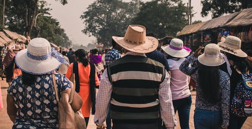 Free stock photo of asia, family, hat, hats