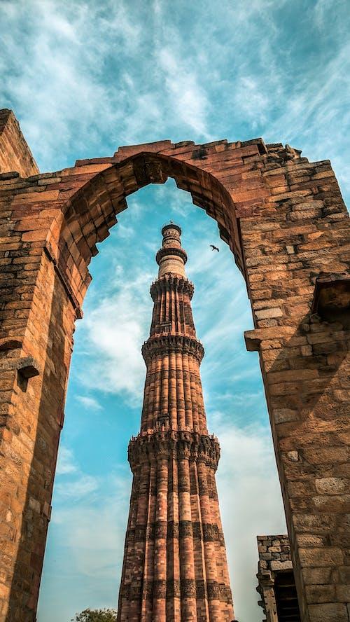 qutub minar, 印度建築, 壁紙, 手機桌面 的 免費圖庫相片