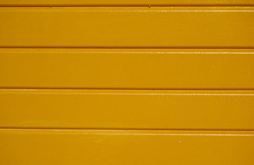 Yellow Wooden Wall With Yellow Paint