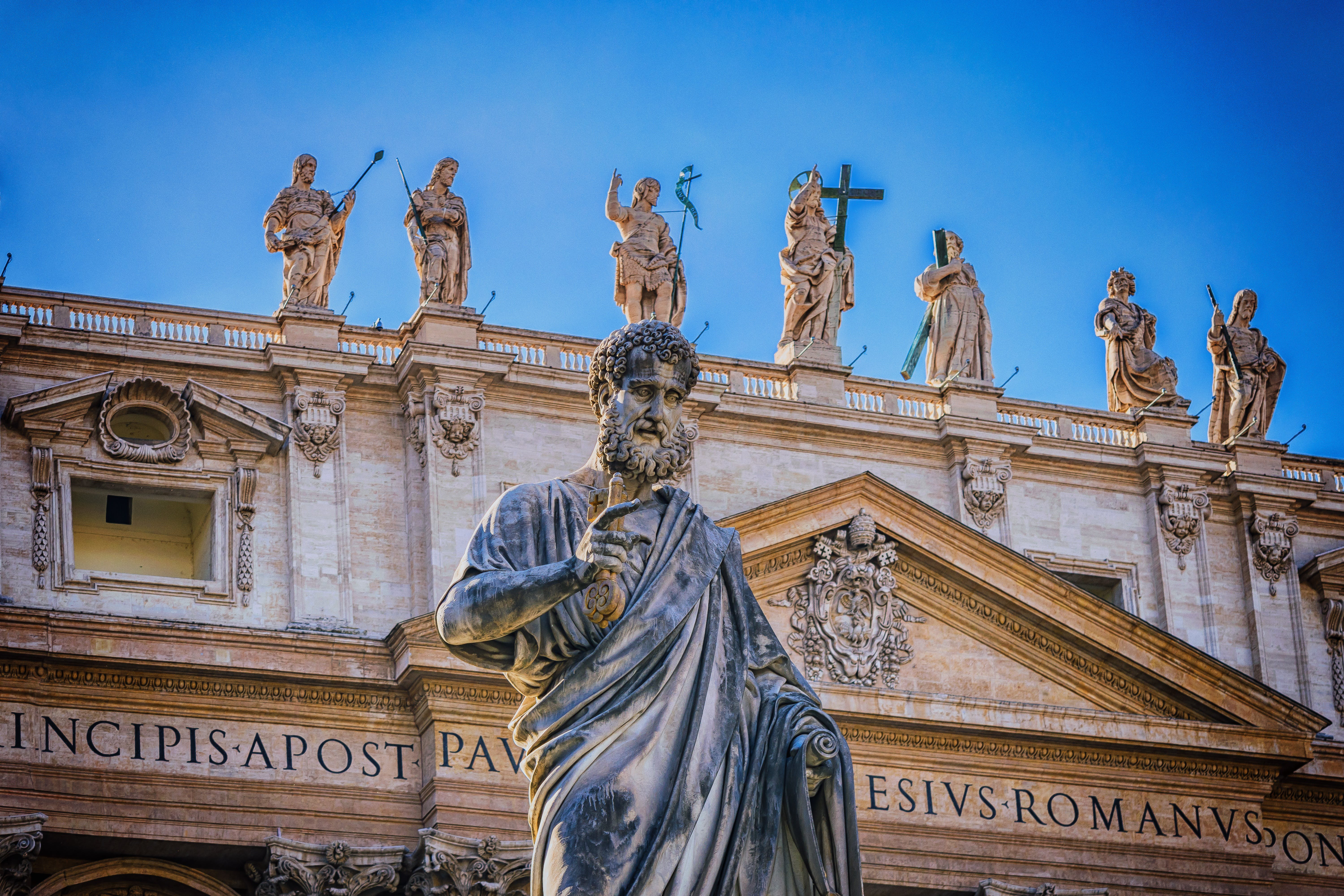 Free stock photo of italy, architecture, statue, church