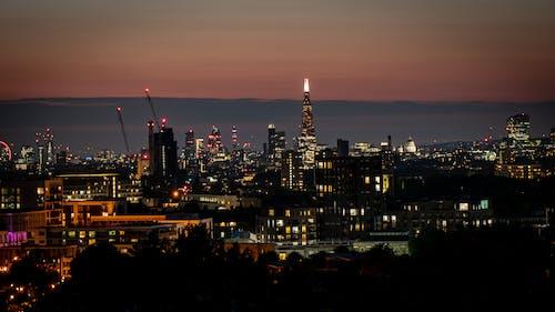 Free stock photo of buildings, city lights, evening sky, london