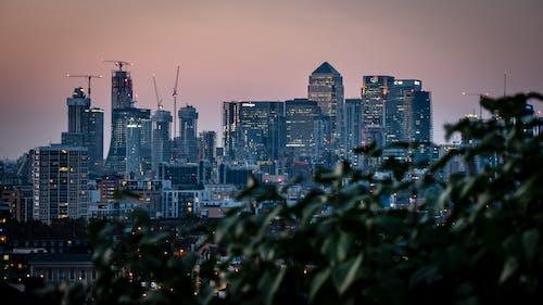Gratis lagerfoto af 4k-baggrund, arkitektur, by, byens lys