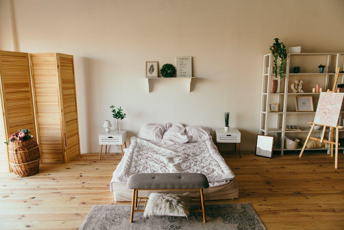 ágy, belső, belsőépítészet
