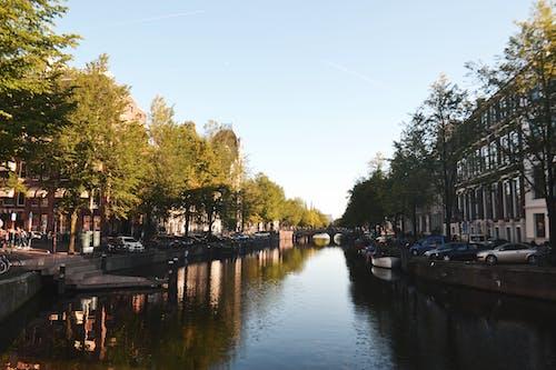 Photos gratuites de amsterdam, canal, destination de voyage, europe