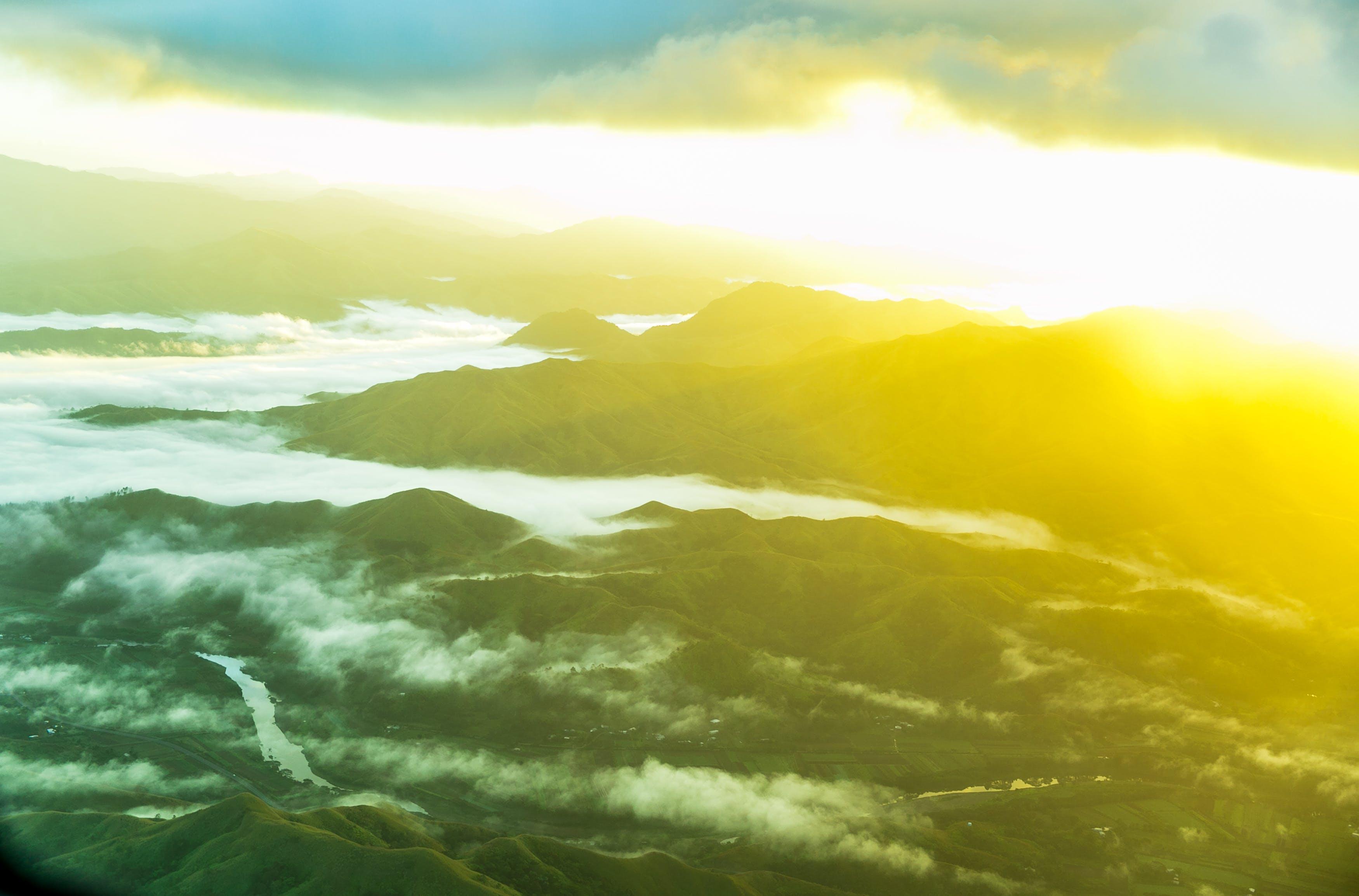 Free stock photo of fiji, mountains, nature, sky