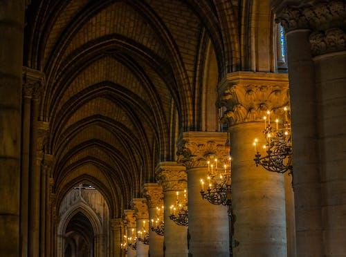 Δωρεάν στοκ φωτογραφιών με αρχιτεκτονική, αψίδα, εκκλησία, εσωτερικοί χώροι