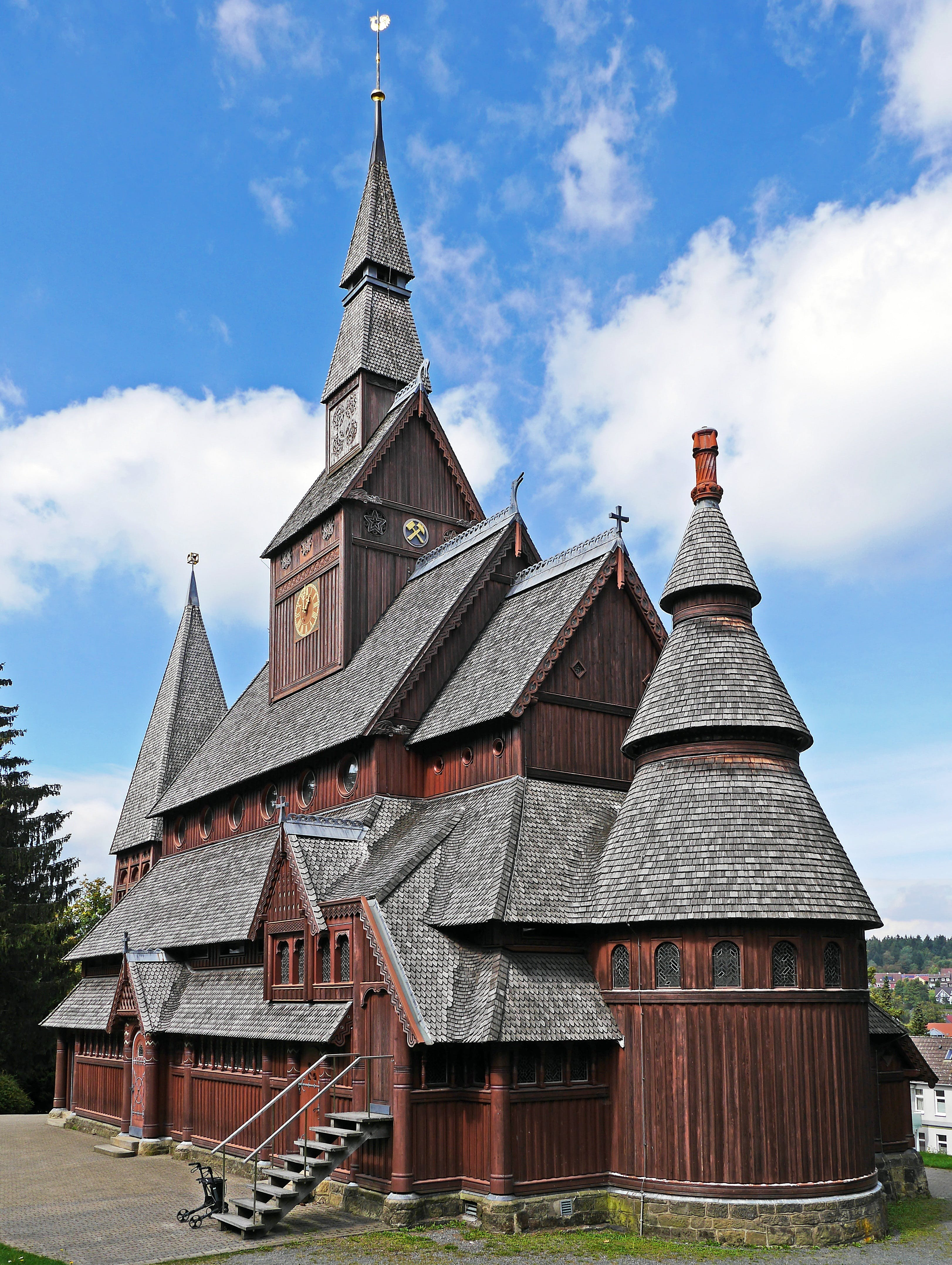 Brown and Grey Wooden Church