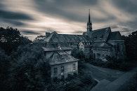 landscape, street, dark