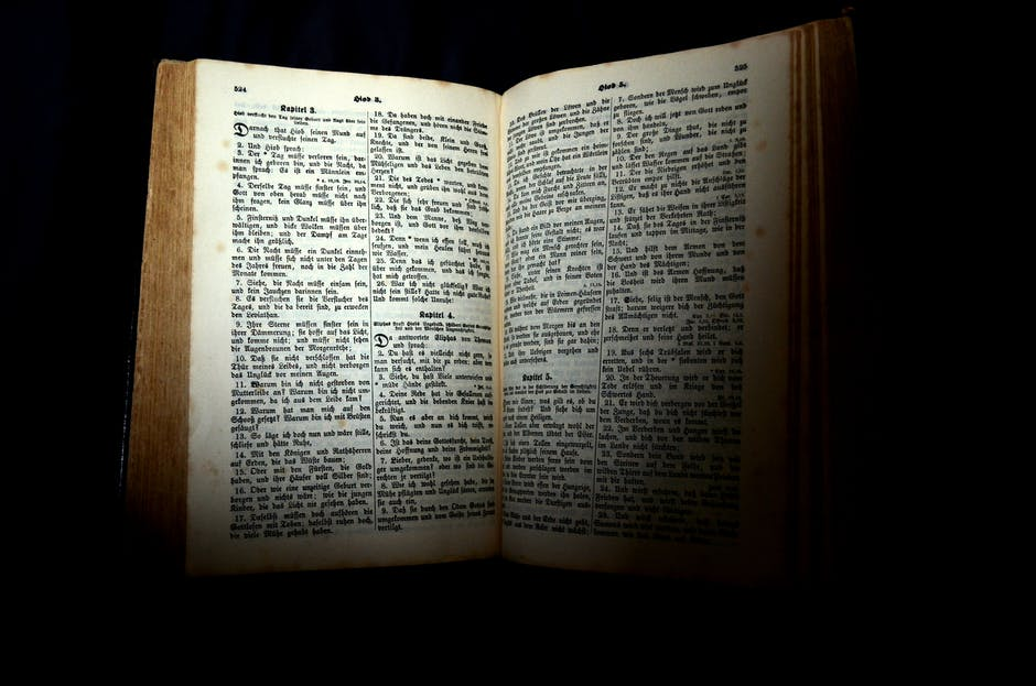 bible, black background, book