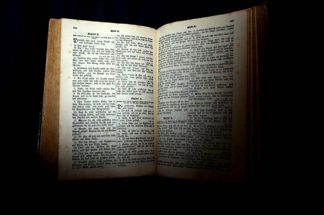 arrière-plan noir, bible, chapitre
