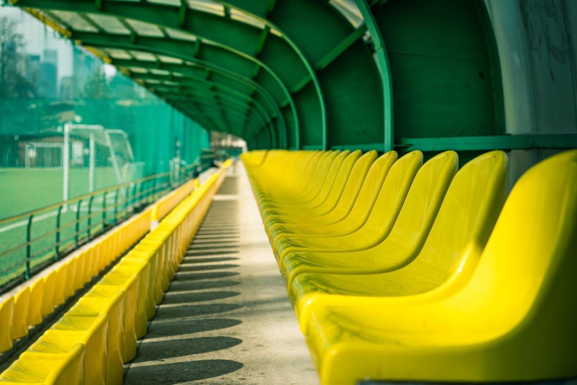 一排一排的座位, 城市, 塑膠