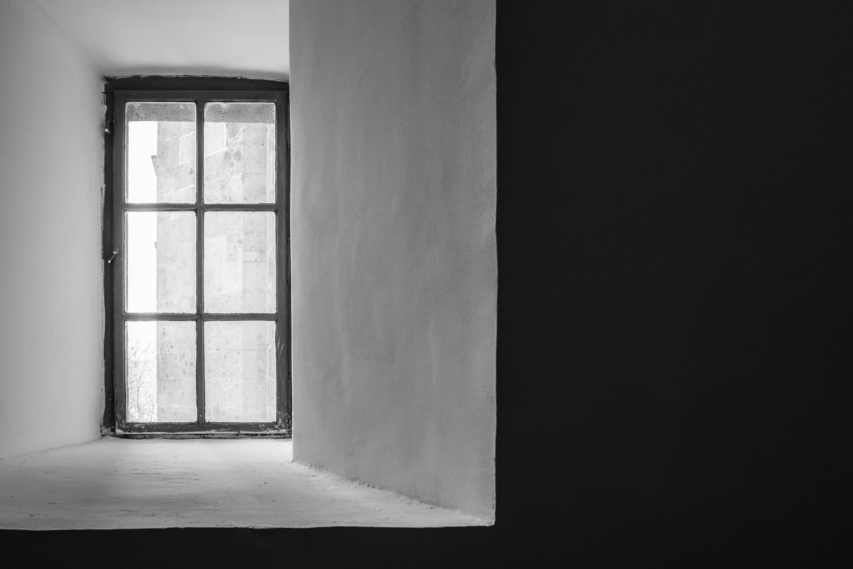 Foto d'estoc gratuïta de acer, articles de vidre, blanc i negre, buit